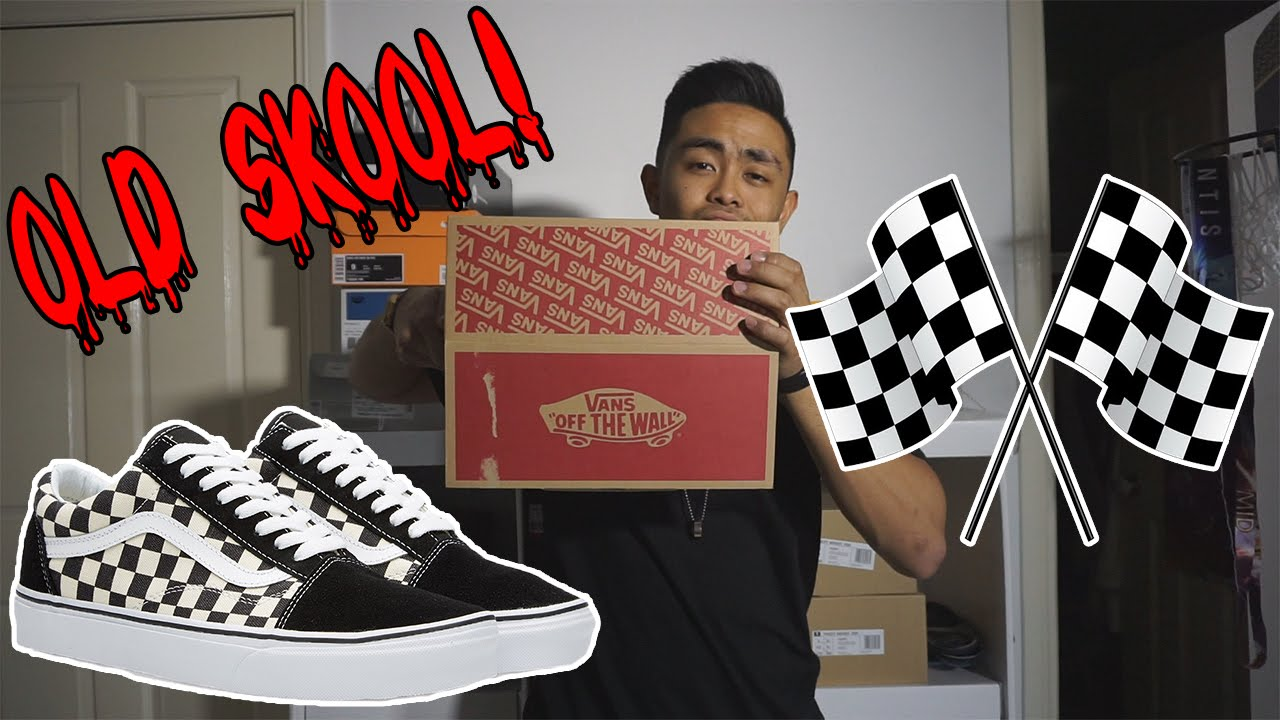 Vans Old Skool Checkered On Feet Review Youtube