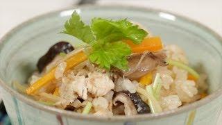Chicken Mushroom Takikomi Gohan Recipe 鶏ときのこの炊き込みご飯 作り方 レシピ