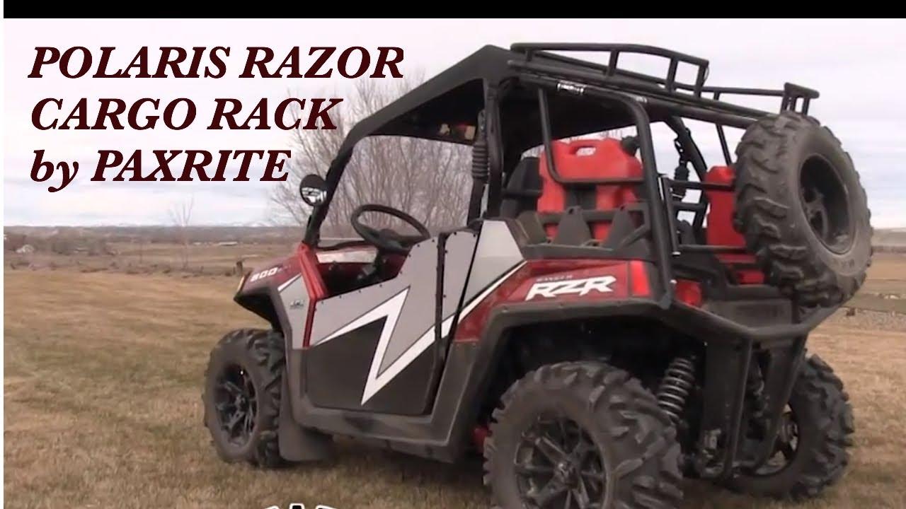 Polaris Razor Cargo Rack By Paxrite Youtube