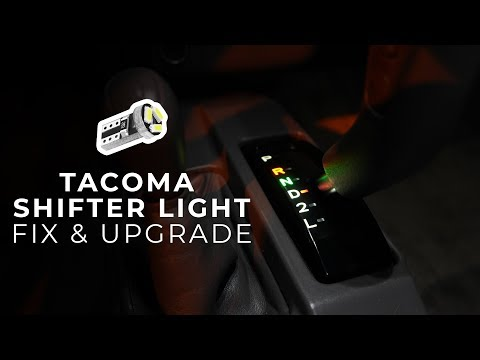 How To Fix Your Shifter Light In Your Tacoma & Upgrade It To A LED