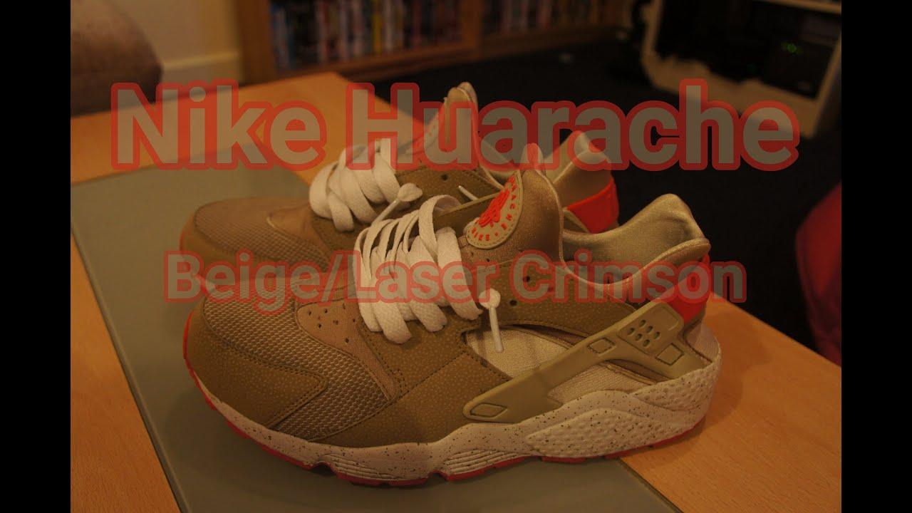 79fd80a169d1 Nike Huarache Beige Laser Crimson