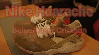 Nike Huarache Beige Laser Crimson Review Sneaker Story Chris S Kicks Youtube
