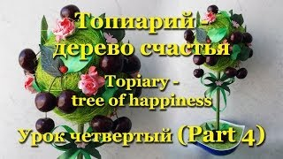 Топиарий (Topiary) - дерево счастья. Мастер-класс. Урок 4
