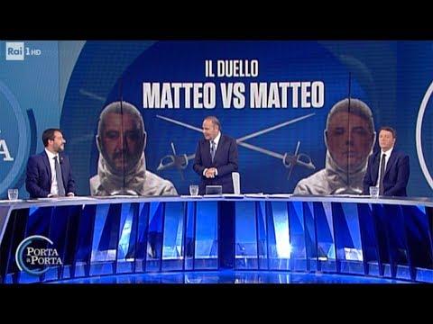 Il confronto tra Renzi e Salvini - Porta a porta 15/10/2019
