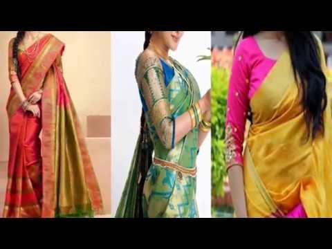 47cd3a0545de32 Top 20 Latest Three Fourth Sleeve Blouse Designs Three fourth blouse design  - Saree Blouse Design