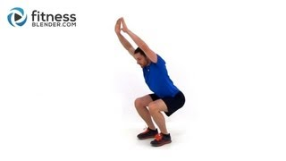 Low Impact Cardio Workout - Bodyweight Quiet Cardio Workout Video to Tone Up Fast