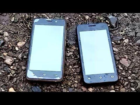 Краш тест: проверка корпусов телефона BQ и Fly на прочность.
