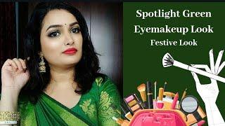 Spotlight Green Eyemakeup Look / Festive Look / Fashionshadz Makeupartistry /2020