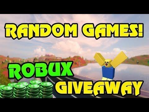 Free Robux Giveaway Random Roblox Games Members Pick