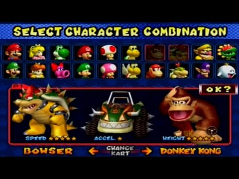 Mario Kart: Double Dash - All Characters and Karts
