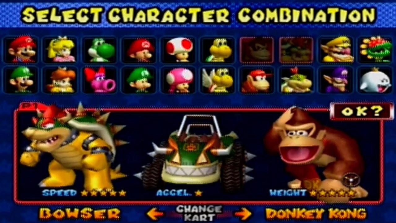 Mario Kart Double Dash All Characters And Karts Youtube