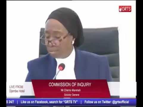 Solicitor General Cherno Marena Testifies At The Gambia Commission Of Enquiry