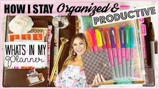 HOW I STAY ORGANIZED AND PRODUCTIVE | WHATS INSIDE MY PLANNER 1920 x 1080