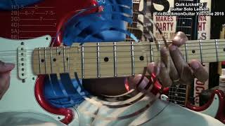 QUIK LICKS #14 Guitar Riffs Solo Lesson EricBlackmonGuitar HQ