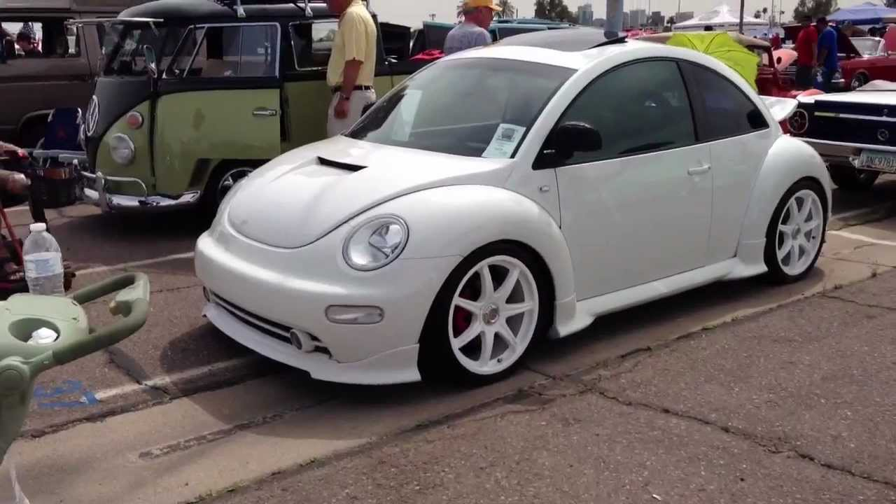 2000 volkswagen new beetle customized, in cool white - youtube
