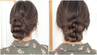 Knotted Updo | Quick & Easy No Heat Hair Tutorial