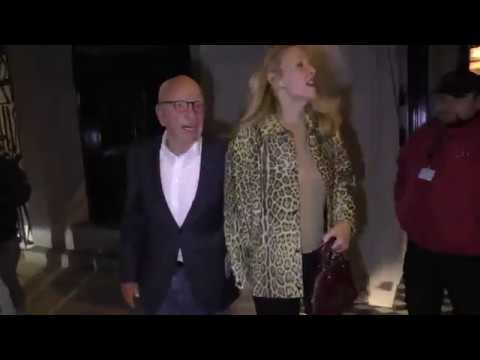 Rupert Murdoch and Jerry Hall enjoy a dinner date at Craigs in West Hollywood