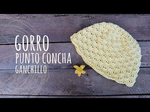 Tutorial Gorro Punto Conchas Ganchillo | Crochet - YouTube