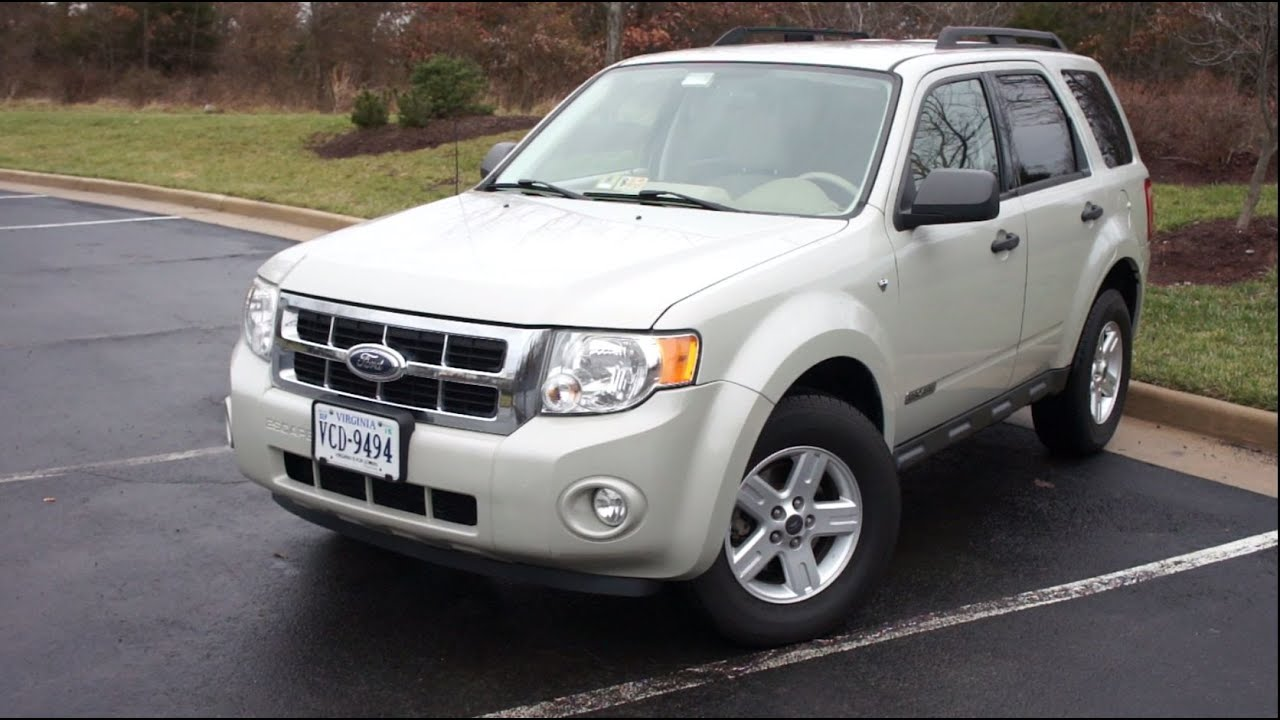 Ford Escape XLT WalkAround Tour YouTube - 2008 ford