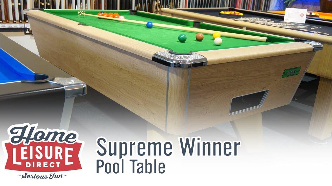 Supreme Winner English Pool Table