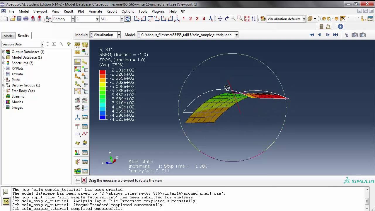 abaqus shell tutorial