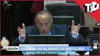 Rodriguez Saa y Cristina Kirchner en un discurso continuo ÙNICO . Dejan sin palabras al Senado