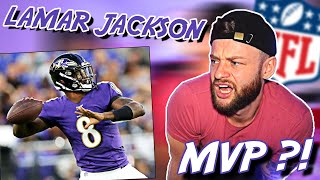 LAMAR JACKSON is INCREDIBLE this year!       SOCCER FAN REACTS