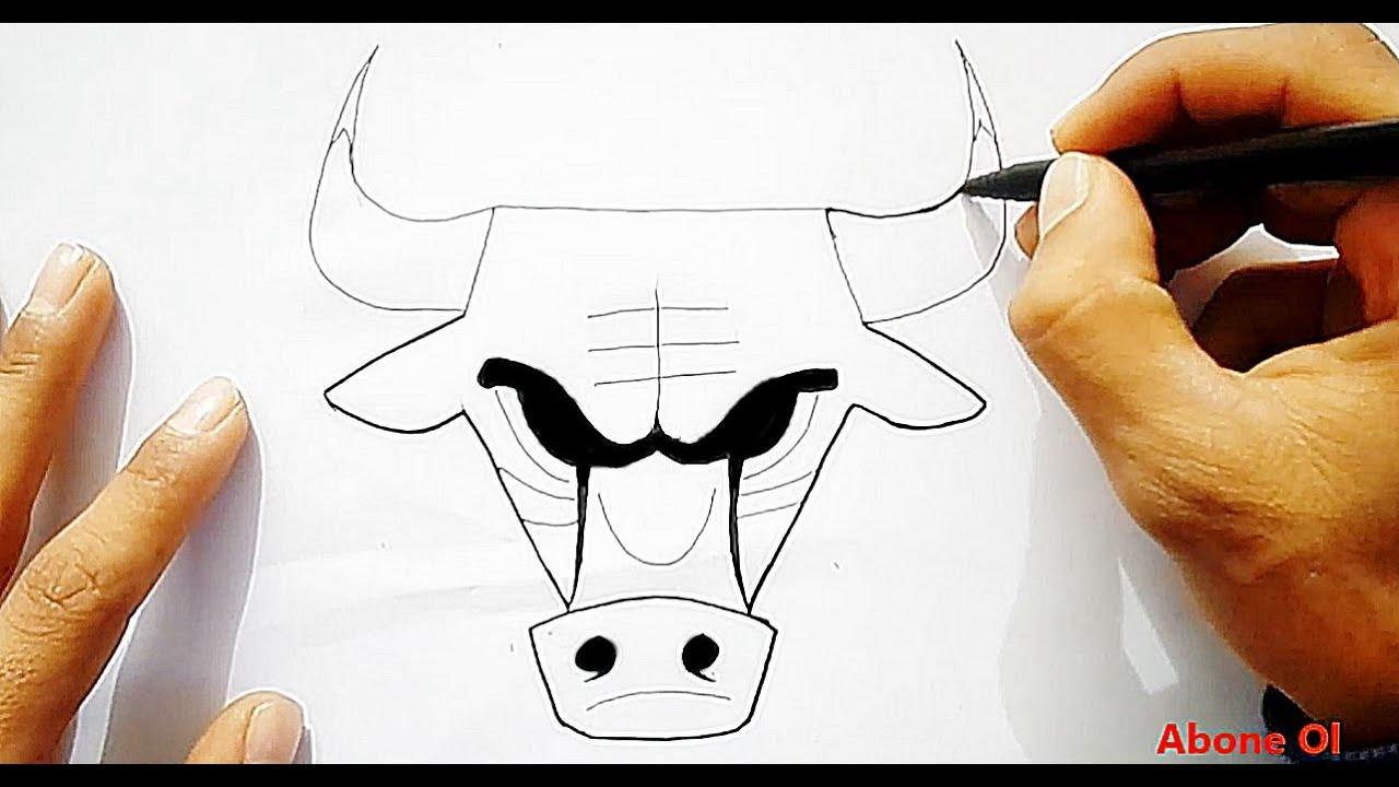 Chicago Bulls Nasil çizilir Boğa Kafası çizimi Youtube