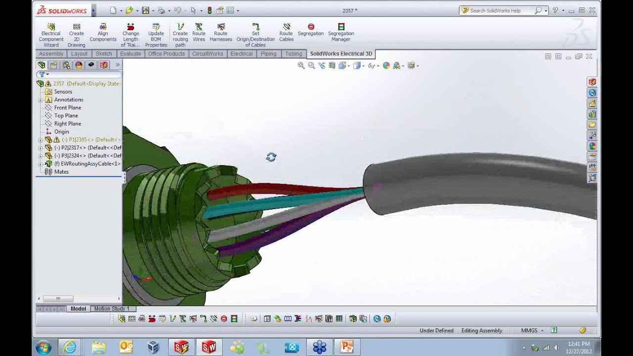 maxresdefault solidworks electrical connectors and cable design youtube wire harness designer at webbmarketing.co