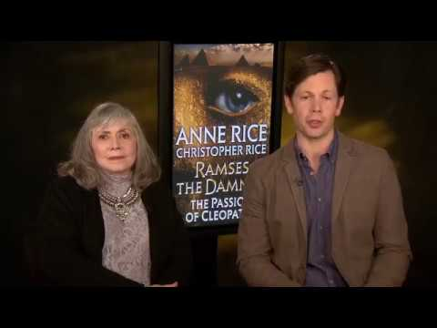 """Anne Rice, Christopher Rice Discuss """"Ramses The Damned: The Passion Of Cleopatra"""" Interview"""