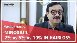 Minoxidil 2% vs 5% vs 10% for male & female hair loss | HairMD, Pune