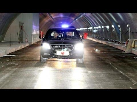 Cumhurbaşkanı Erdoğan, makam arabasıyla Avrasya Tüneli'nden geçti