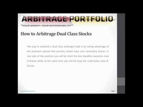 Dual Class Shares Arbitrage | ArbitragePortfolio.com