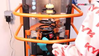 OPEL Corsa C - FRONT - Передние амортизаторы KYB установка