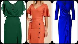 Women fashion outfit slimfit dress and wrap dress designs and Ideas