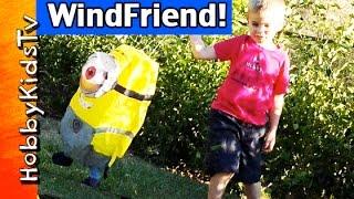 Minion Kites! Windfriend Punching Bag + HobbyPuppy Running HobbyKidsTV