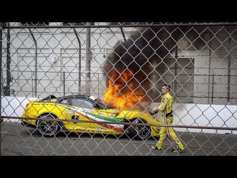 Ferrari 599 California BURST Into FLAMES at Formula Drift Long Beach - Jay Flat Out
