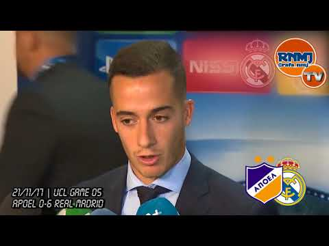 LUCAS VAZQUEZ post Apoel 0-6 Real Madrid | Champions League (21/11/2017)
