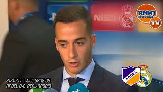 LUCAS VAZQUEZ post Apoel 0-6 Real Madrid | Champions League (21/11/2017)