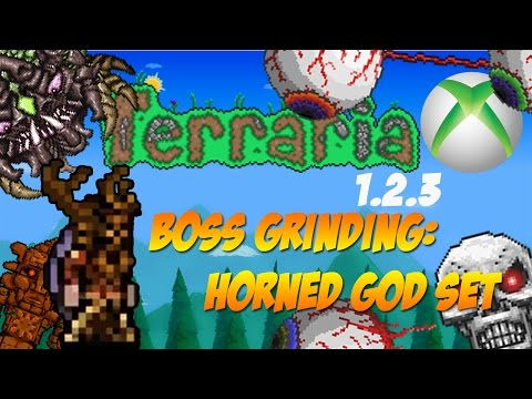 Terraria 1.2.3 Console Update - Horned God Set Boss Grinding [Xbox Edition] LIVESTREAM
