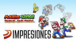 Mario & Luigi Paper Jam Bros: Jugando en 3DS al RPG de papel