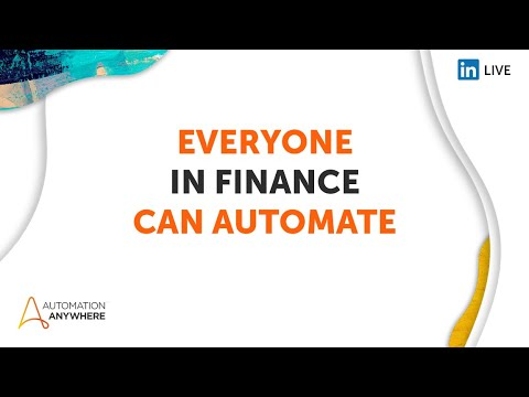 AA   Everyone can Automate Day 5   Finance