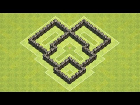 Clash of Clans Town Hall 4 Defense (CoC TH4) BEST Trophy Base Layout Defense Strategy