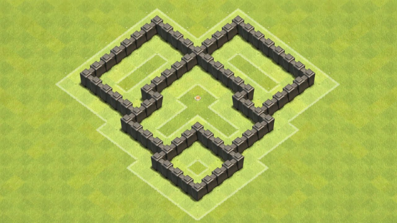 Clash of clans town hall 4 defense coc th4 best trophy base layout