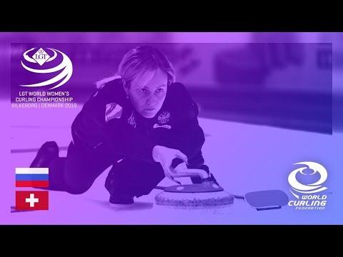 Russia v Switzerland - round robin - LGT World Women's Curling Championships 2019