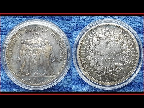 French Silver Coins The Hercules group 1797 - 2012