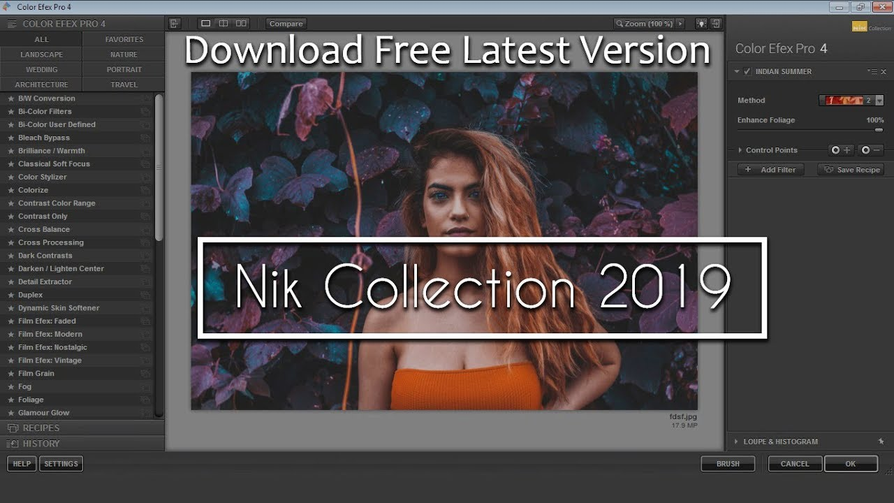 Calma raro Elegante  Download Nik Collection 2019 Plugin For Free | How to Install Nik Collection  in Photoshop For Free - YouTube