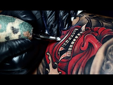 Samurai Tattoo Time Lapse