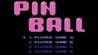Pinball - NES Gameplay