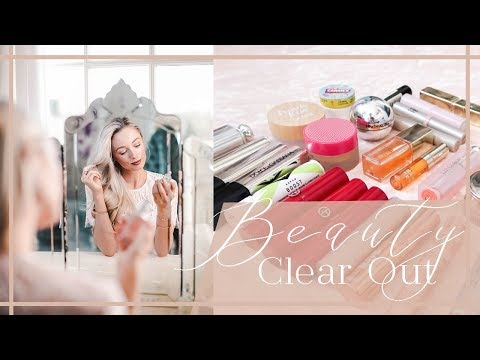 HUGE BEAUTY CLEAROUT // DECLUTTERING TIPS AND MAKEUP ORGANISATION